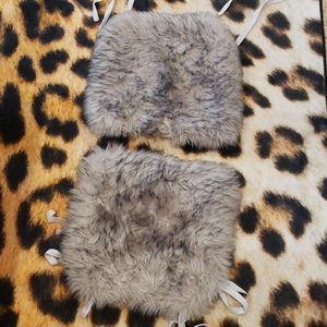 🖤 Fur Chair Cushions 🖤